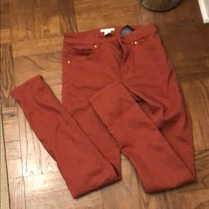 NWOT H&M Rust Colored Skinny Jeans